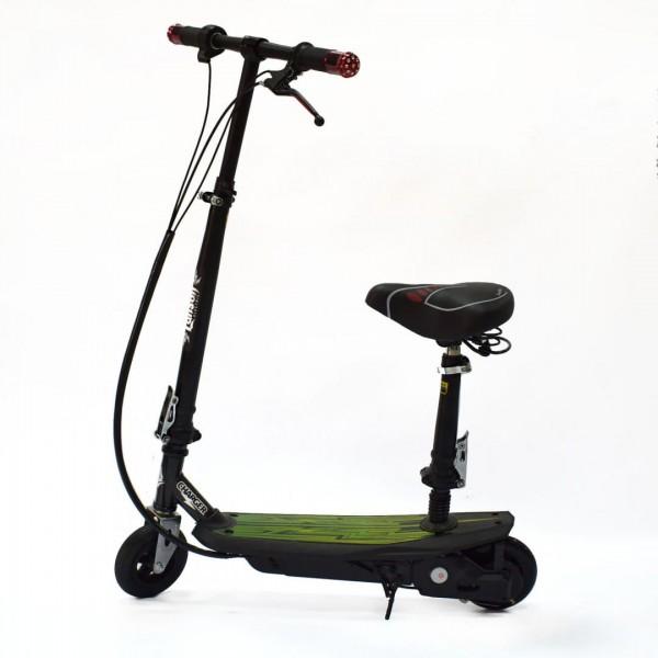 Электроскутер детский Charger 120W c сиденьем (надувное переднее колесо) фото